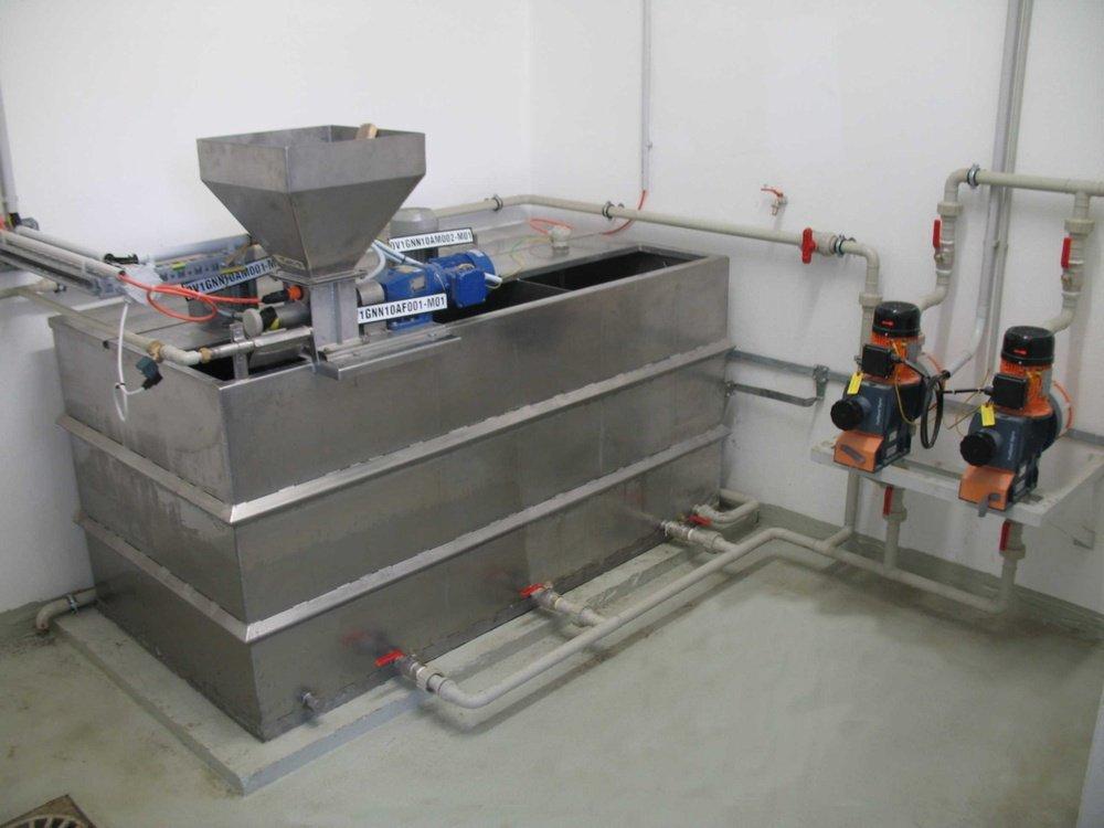 Stanice přípravy flokulantů s dávkovačem<br />