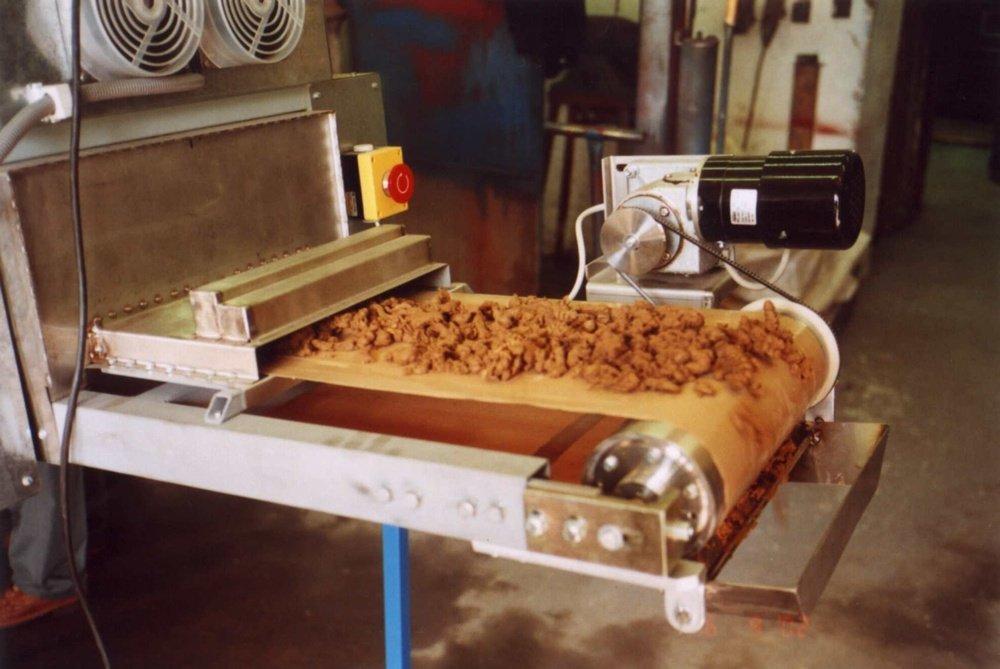 Dosušené granule koláčů na 97% sušiny<br />